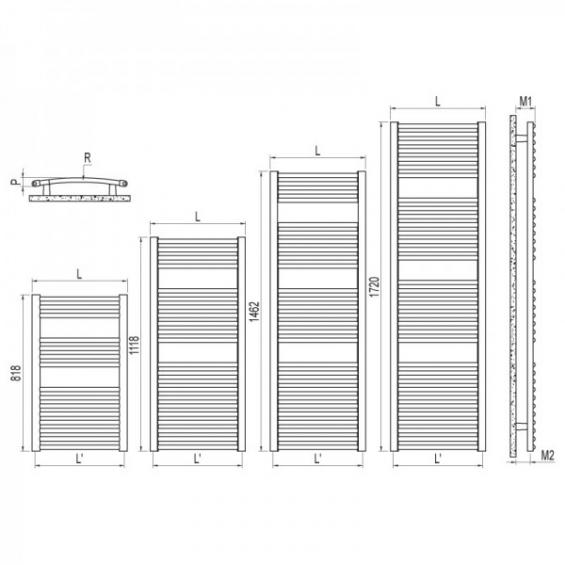 Radiateur Sèche-serviettes VENUS eau chaude / mixte