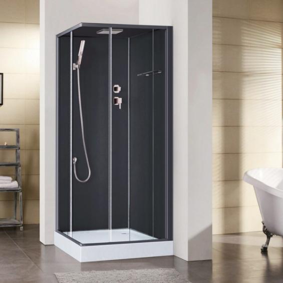 cabine de douche int grale irina noire en verre. Black Bedroom Furniture Sets. Home Design Ideas