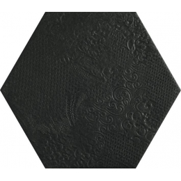 Carrelage sol hexagonal Milan black 25*25 cm