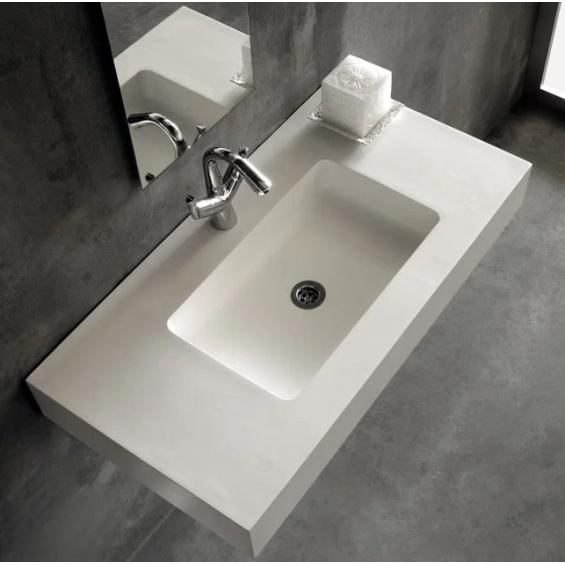 Vasque simple Atenea centrée