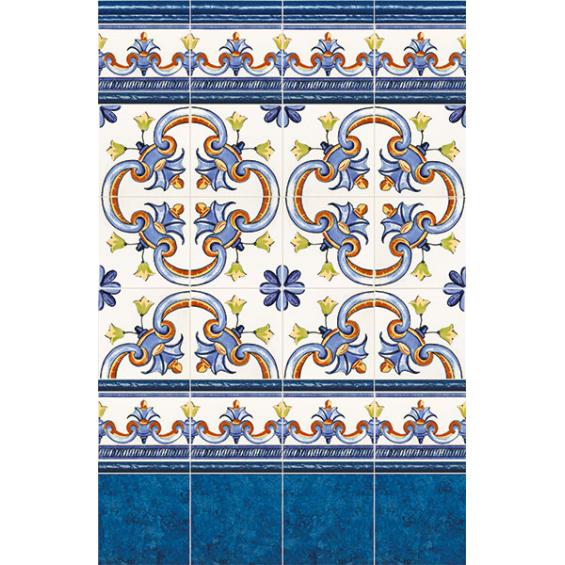 Galan Flor Azul 20*20 cm