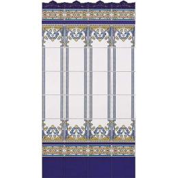 Moldura gotica azul antic 5*20cm