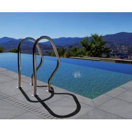 Margelle en gr s c rame pour le tour de piscine avec r flex for Piscine reflea
