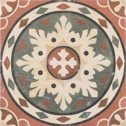 Carrelage sol effet carreaux de ciment Lafayette Rosso 25*25 cm