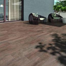 Carrelage sol extérieur effet bois Amazonia Castanho R11 20*80 cm
