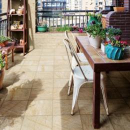 Carrelage sol extérieur effet pierre minéral beige R9 30*30cm