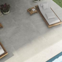 Carrelage sol extérieur effet pierre Naples Nuvola R10 29,2*59,2 cm