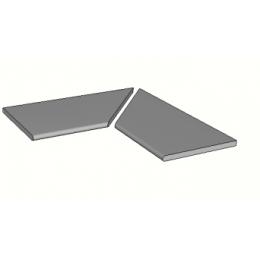Découvrir Margelles d'angle piscine Hook 30x60 cm (2 pièces)