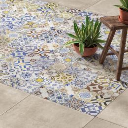 Carrelage sol traditionnel Egypte mix azul 33*33 cm