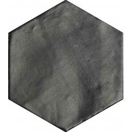 Carrelage sol et mur effet zellige black 13,9 CM HEX.