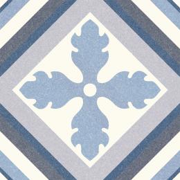 Carrelage sol effet carreaux de ciment Athènes saint tropez blue 25*25