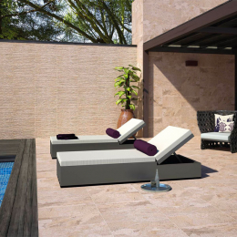 Carrelage sol extérieur effet pierre Roc beige R10 30*60cm