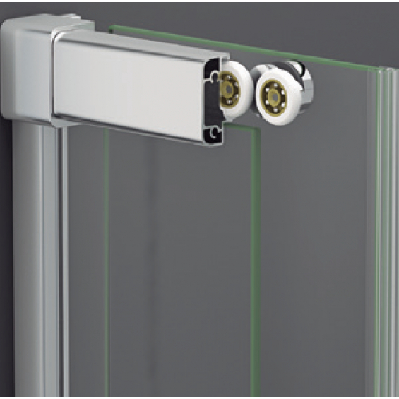 Vente en ligne porte de douche coulissante d 39 angle marbella pas cher - Porte de douche d angle coulissante ...
