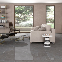 Carrelage sol poli effet marbre Concept gris 60*60 cm