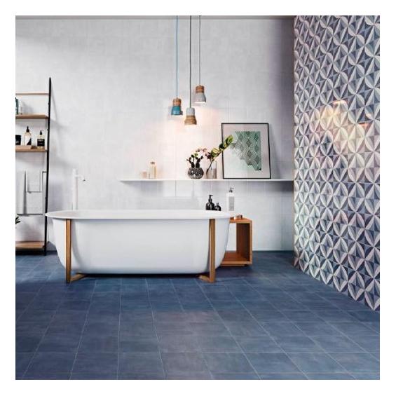 carrelage sol carreaux de ciment bleue