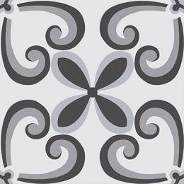 Carrelage sol effet carreaux de ciment Manzanillo black 16.5*16.5 cm