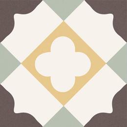 Carrelage sol effet carreaux de ciment Manzanillo mix 16.5*16.5 cm