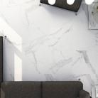 carrelage marbre blanc mat 60 x 60 cm