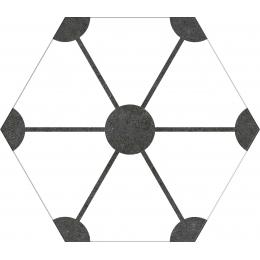 Carrelage sol hexagonal Soccer white 25*25 cm