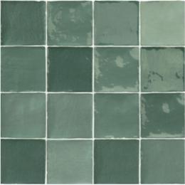 Carrelage mur effet zellige mix olive 10*10 cm