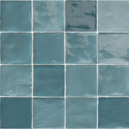 Carrelage mur effet zellige mix Turquoise 10*10 cm