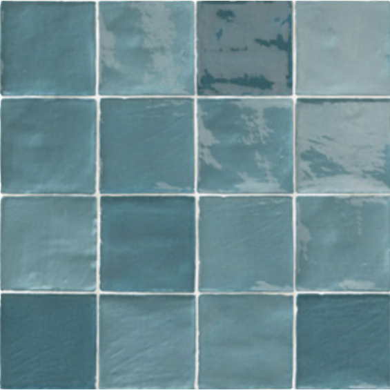 Zellige mix bleu turquoise 10*10 cm