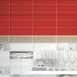 Carrelage mur Métro rojo 10*30 biseauté