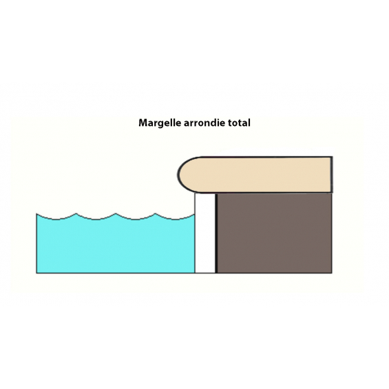 Margelle d'angle piscine Max 30x60 cm / Tous coloris