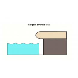 Margelle d'angle piscine Hook 30x60 cm / Tous coloris