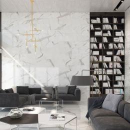 Carrelage sol et mur effet marbre brillant Hotel brillo 60*120 cm