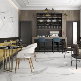 Carrelage sol et mur effet marbre brillant Hotel brillo 60*60 cm