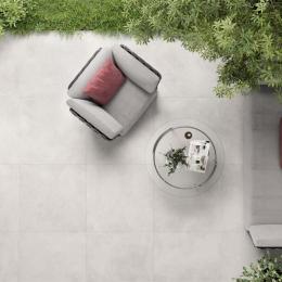 Carrelage sol extérieur moderne XXL ivory R11 59,2*59,2 cm