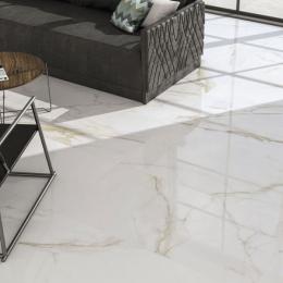 Carrelage sol et mur effet marbre brillant Hotel gold brillo 60*60 cm