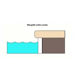 Margelles d'angle piscine Calcaria 2.0 30x90 cm (2 pièces)