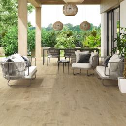 Carrelage sol extérieur effet bois Landes natural R11 23*120 cm