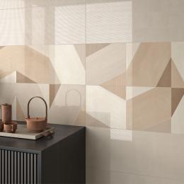 Carrelage mur Décor mix Aqua natural 30x90 cm
