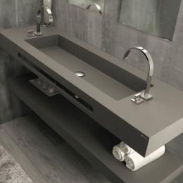 Vasque simple Atenea cuve XXL centrée