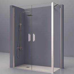 Découvrir Portes de douche d'angle double pivotante Azur