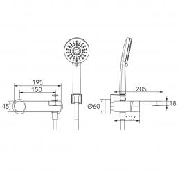 Mitigeur Bain-Douche Industrial Chrome 1
