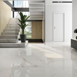 Carrelage sol poli effet marbre Novo lux 120*120 cm