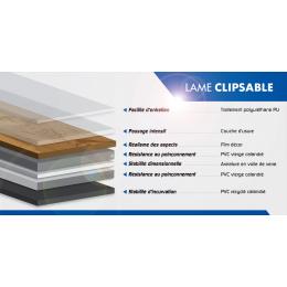 Lames PVC à clipser Fall together 18,3*122 cm