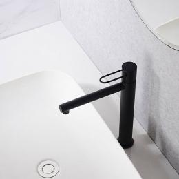 Mitigeur lavabo Arc haut noir