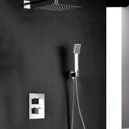 Colonne de Douche encastrée thermostatique Auger design chrome