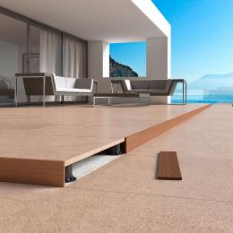 Découvrir Profil de finition pour bords de terrasse sur plots