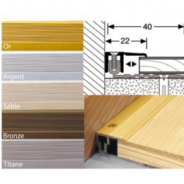 Profil de finition aluminium pour parquet et stratifié