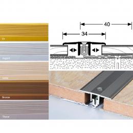 Profil de séparation aluminium pour parquet et stratifié