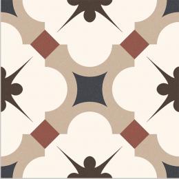Carrelage sol effet carreaux de ciment Vintage beige 16,5*16,5 cm