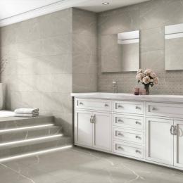 Carrelage sol effet pierre Carrara grey 60*60 cm
